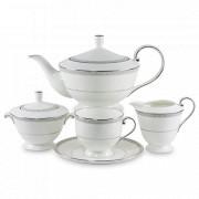 Сервиз чайный на 6 персон, 17 предметов, серия Луна, NARUMI, Япония, Японский фарфор